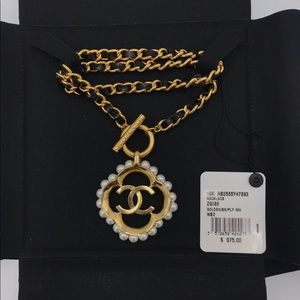 Chanel necklace CC logo